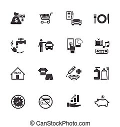 Business and financial icons set.