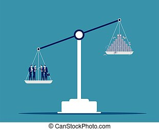 Business and inflation to sustained increase. Conept business vector illustration.