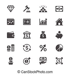 Business and investment flat icons - Simple vector icons....