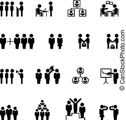 Business and management icons. HR vector