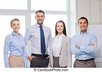 happy business team in office