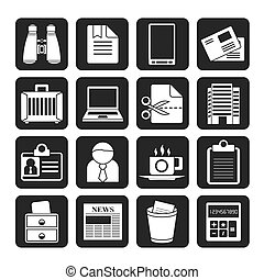 Business and office elements icons