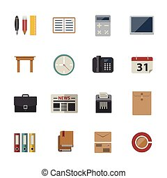 Business and office icon. Flat Icon