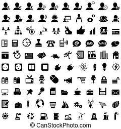 business and office icon set - Business and office set of ...