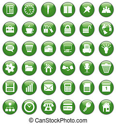 business and office icons set - Business and office set of ...