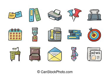 Business and office icons set,eps10