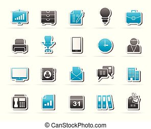 Business and office icons