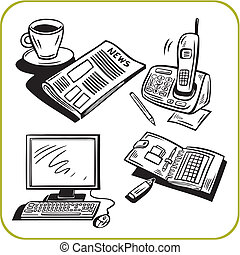 Business and office. Vector set.
