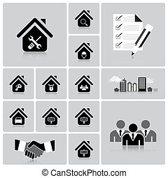 Business And Real Estate Icon Set