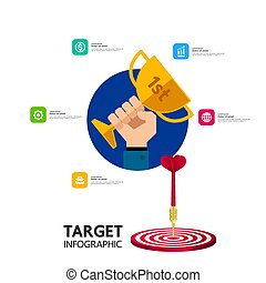 Business and success target focus vector illustration.