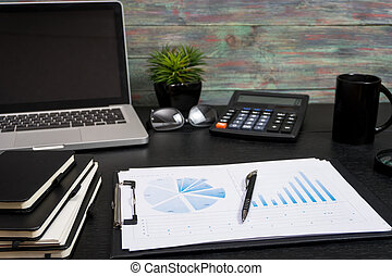 Business and the financial reports a workplace