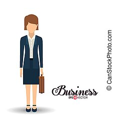 Business and Workforce over white background, vector illustration