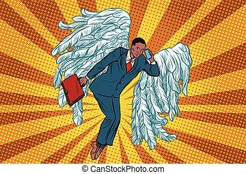 Business angel African businessman