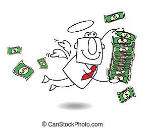 business angel brings money