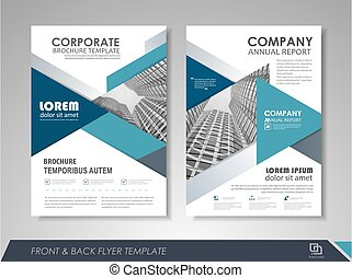 Business annual report - Blue annual report brochure flyer...