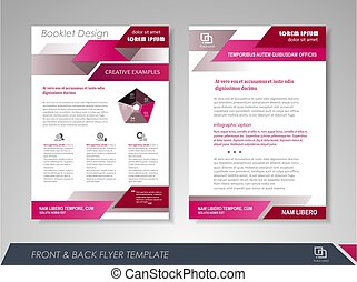 Business annual report - Purple annual report brochure flyer...