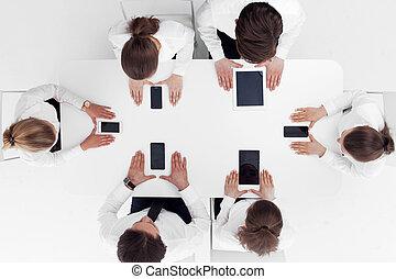 business, appareils, gens
