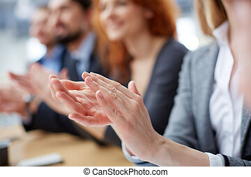 Business applause - Cropped image of a businessperson...