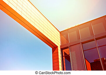 Business architecture. Picture of business office building ...