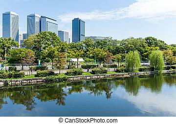 Business area in Osaka