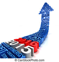 Business arrow 2015 to 2016