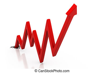 Business arrow  Graph