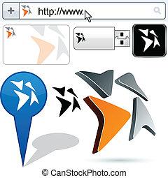 Business arrows abstract logo design. - Business vector...