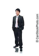 Business Asian Man Standing