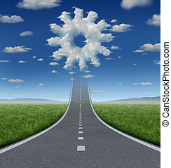 Business Aspirations - Business aspirations success concept...