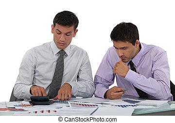 Business associates undertaking market research