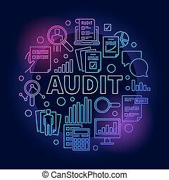 Business audit colorful illustration