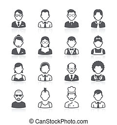 business, avatar, icons., gens
