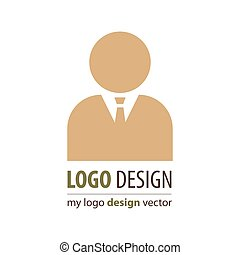 business avatar logo brown color