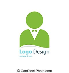 business avatar logo Green color