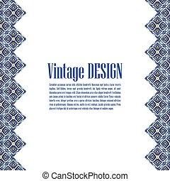 business., azulejos, estilo, portugués, bandera, azulejos