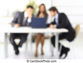 business background. blurred image of business team -...