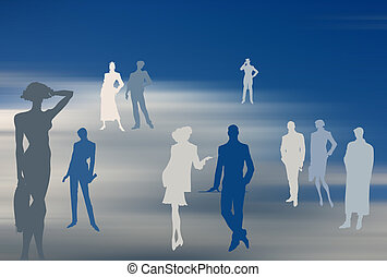 Business background - Conceptual business image: dream team....