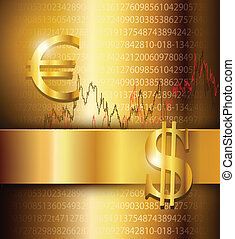 Business background elegant gold