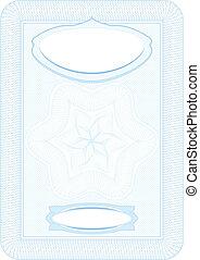 Business background, Guilloche ornamental Element for Certificate, Money, Diploma, Voucher, decorative vertical frame