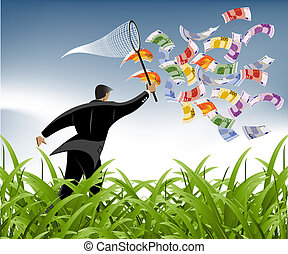 Business Background - Business and Financial Concept...
