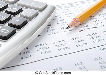 market analysis concept with financial data
