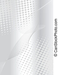 Business background silver with dots pattern, vector...