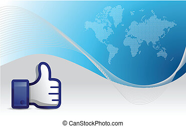 business background with thumb up