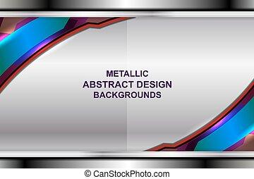 business backgrounds metallic design