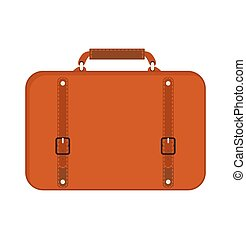 Business bag suitcase vector illustration