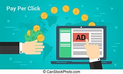 Business Banner - Pay Per Click - Vector horizontal banner ...