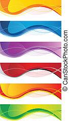 Business banner set - Vector website headers set, business...
