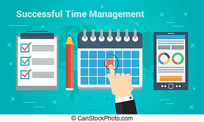 Business Banner - Successful Time Management