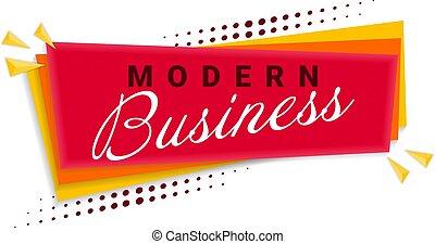 Business Banner Template Design. Vector Illustration.