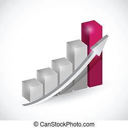 business bar graph chart illustration design